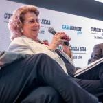 Diana Bracco e Diego Visconti partecipano al dibattito (Milano, 20 ottobre 2015)