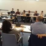 Un momento del workshop formativo dedicato ai 10 finalisti del concorso (Milano, 15 giugno 2015)