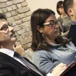Il rettore Michele Bugliesi, Anna Puccio e l'assessore Simone Venturini